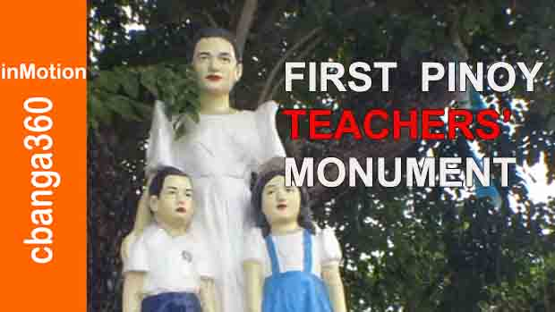 This is the first monument dedicated to the Filipino teachers found in the town of Calabanga, Philippines.