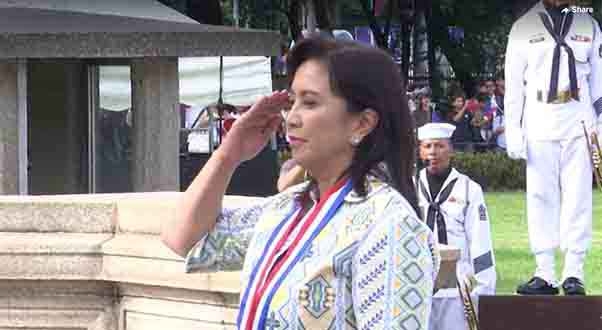 Vice President Leni Robredo at the 121st Independence Day rites at Luneta.