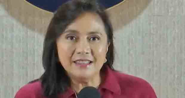 Vice President Leni Robredo delivers her findings on the campaign on fight agains illegal drugs.