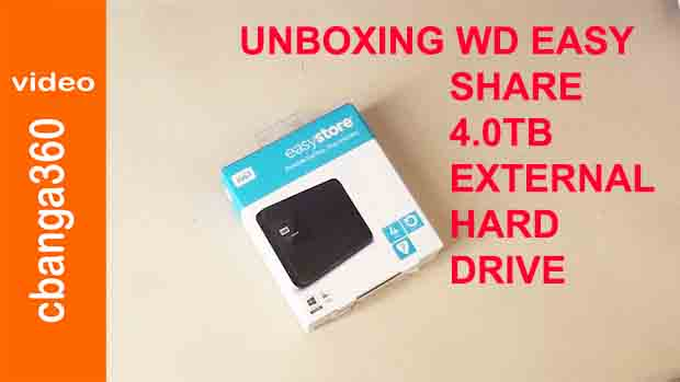 Unboxing WD Easustore Portable 4TB External Hard Disk Drive