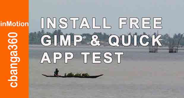 HOW TO INSTALL GIMP & QUICK TEST