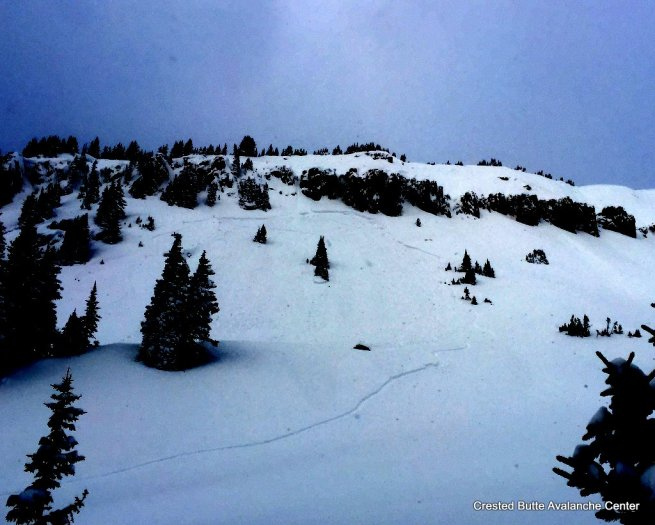 1/17. Explosive triggered slab avalanche at Irwin. SE aspect NTL.