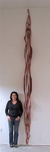 Caprice Pierucci's wood sculpture