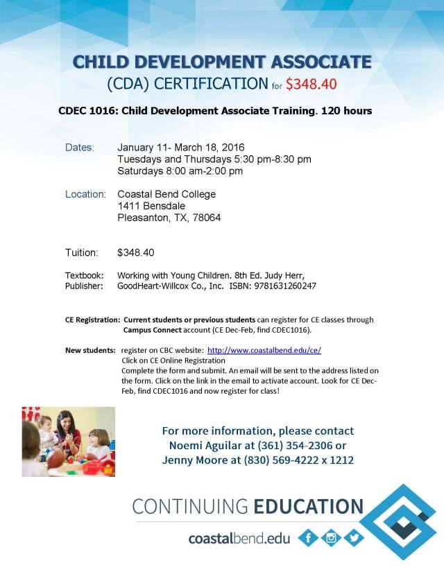 CDA training flyer for Pleasanton