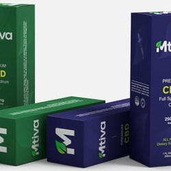 Blue Box Packaging Mtiva CBD Boxes