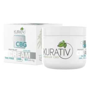 cbd cbg cream, cbd cbg topical balm, cbd cbg salve, cbd cbg balm, cbd cbg creams, cbg oil, cbg cream, cbg salve, kurativ, cbd / cbg products, cooling, 3300mg, 3300 mg, pain relief, zero thc