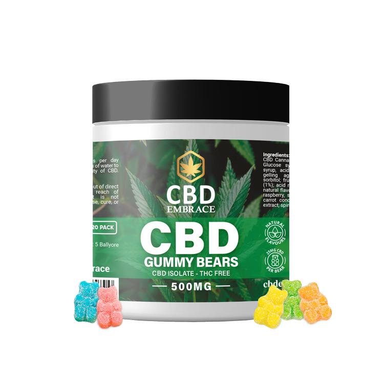 CBD Isolate Gummies UK - 500mg CBD