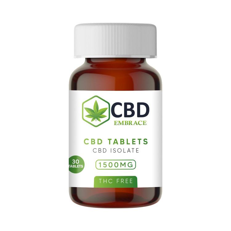 CBD Tablets 1500mg - THC Free