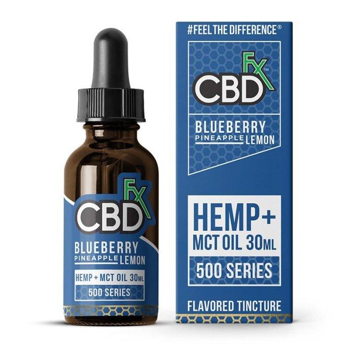 CBDfx CBD Hemp Oil Flavored-Tincture Blueberry Pineapple Lemon