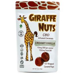 Giraffe Nuts Infused Caramels | Creamy Vanilla