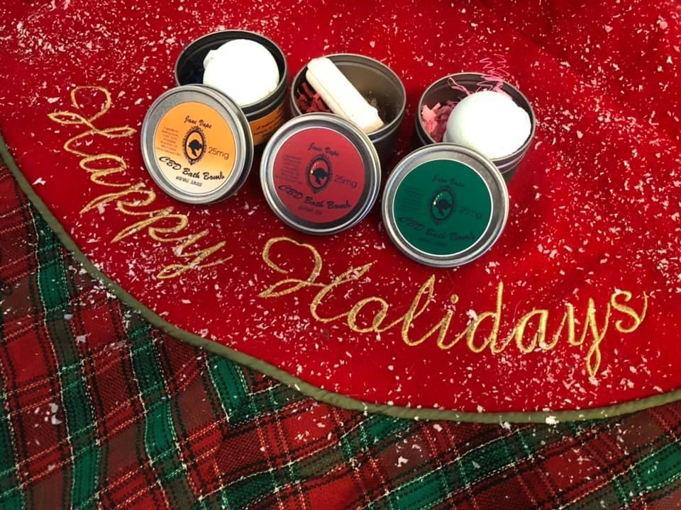 holiday gift cbd bath bombs