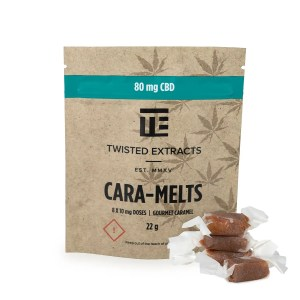 Twisted Extracts - CBD Cara-Melts (80mg CBD)