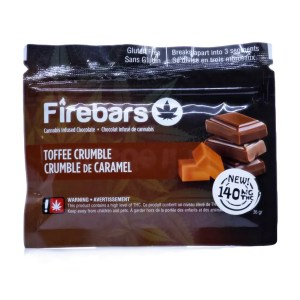 Fire Bars- Toffee Crumble (140 MG THC)