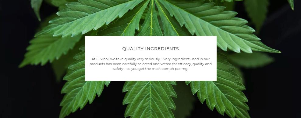 Elixinol Quality Ingredients