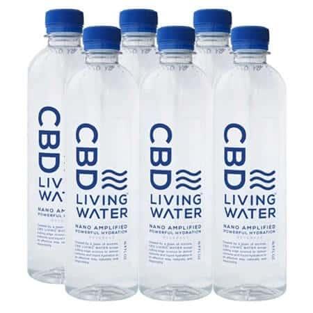 6 bottles of CBD Living Water