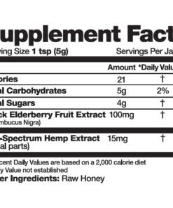 12 oz cbd elderberry honey