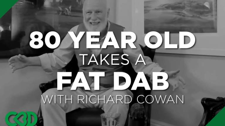 old guy takes a fat dab