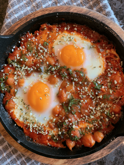 Dr. igor's spicy chickpea & hemp heart shakshuka recipe