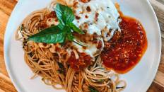 Dr Igor's Chicken Parmesan 2.0 on Whole Wheat Linguine Recipe
