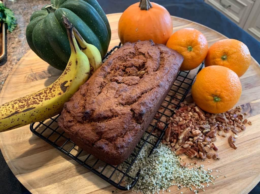 Dr. Igor's Pumpkin Banana Hemp Bread Recipe