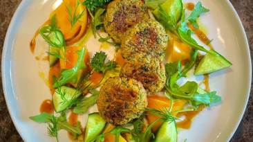 Dr. Igor's Pea Protein Fritter Salad Recipe