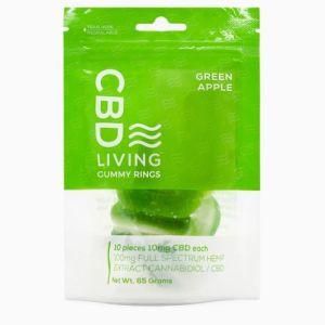 CBD Living Gummy Rings Green Apple 100mg