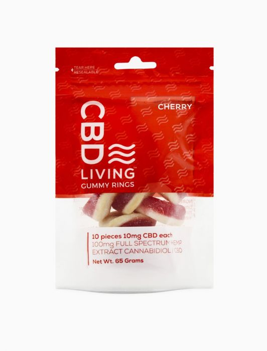 CBD Living Gummy Rings Cherry 100mg