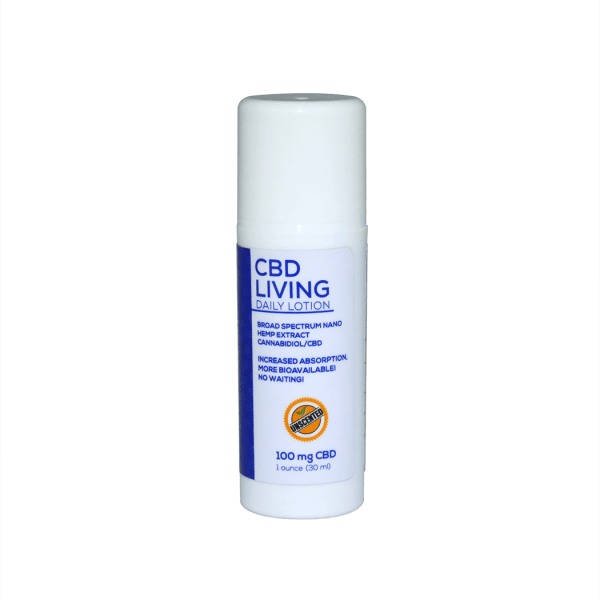 CBD Living Travel Lotion Unscented 100mg 1oz