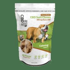 CBD Living Pet Dog Chew – Peanut Butter 300mg