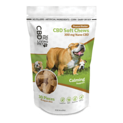 CBD Living Pet Dog Chew – Peanut Butter 300mg