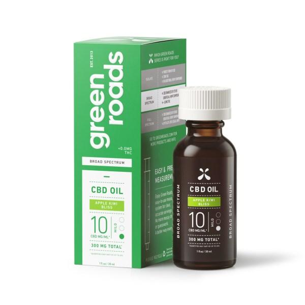 Green Roads Apple Kiwi Bliss 300mg 10mg/ml 30ml CBD Oil Broad Spectrum