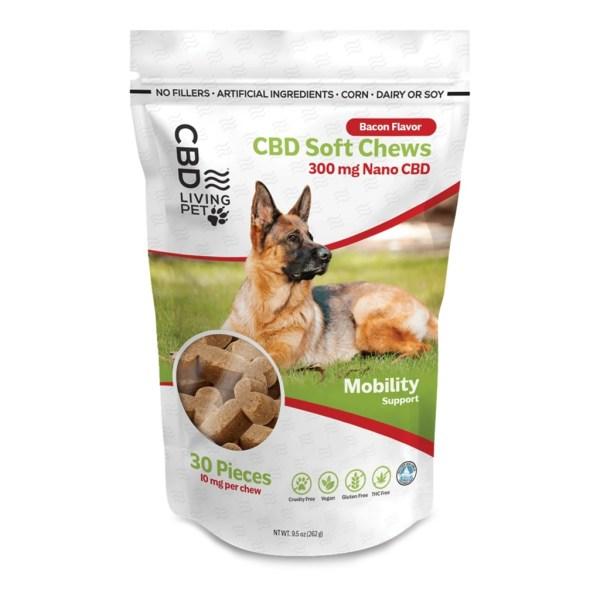 CBD Living Pet Dog Chew – Bacon 300mg