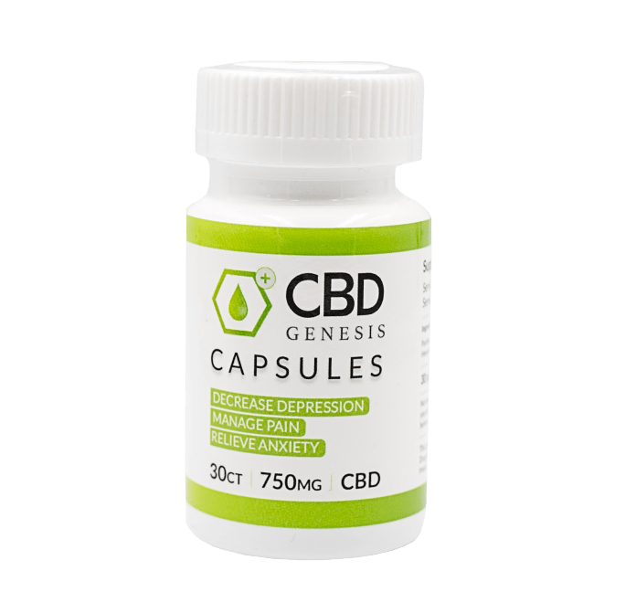 25mg / 50mg CBD Softgels, for treating chronic pain