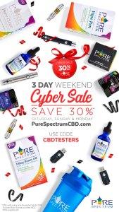 PureSpectrumCBD Cyber Monday