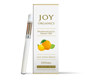 Joy 500mg broad-spectrum CBD vape pen