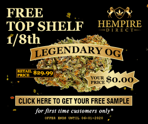 Free sample of top-shelf hemp flower