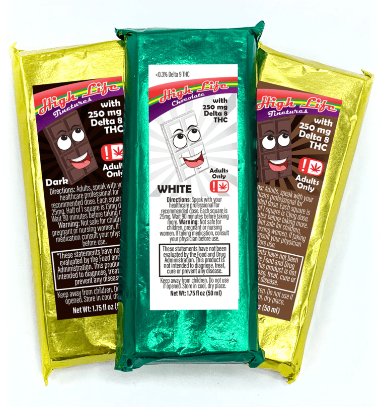 Potent Chocolate Bars in Multiple Flavors