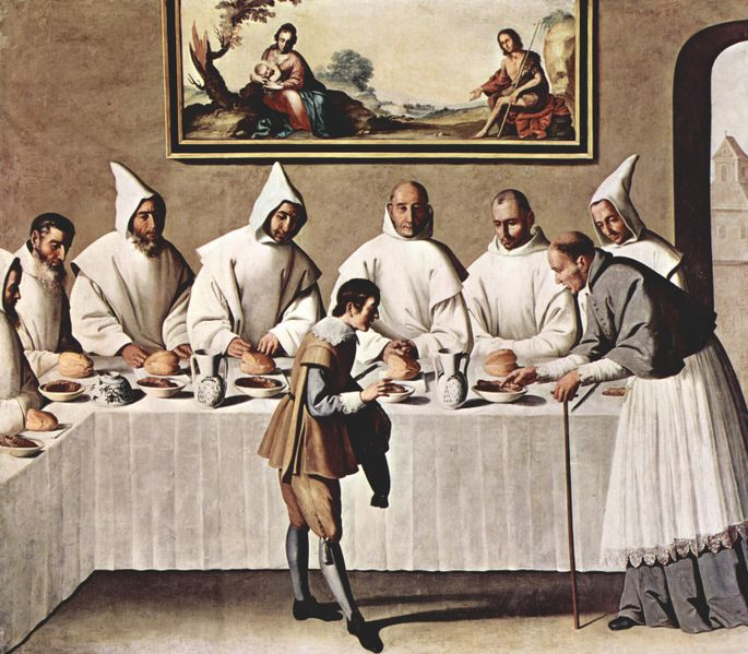 (Painting by Francisco de Zurburan)