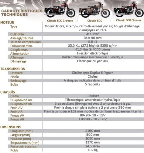 caractéristiques-royal-enfield-bullet-classic-classic-chrome-royal-enfield-classic bike esprit