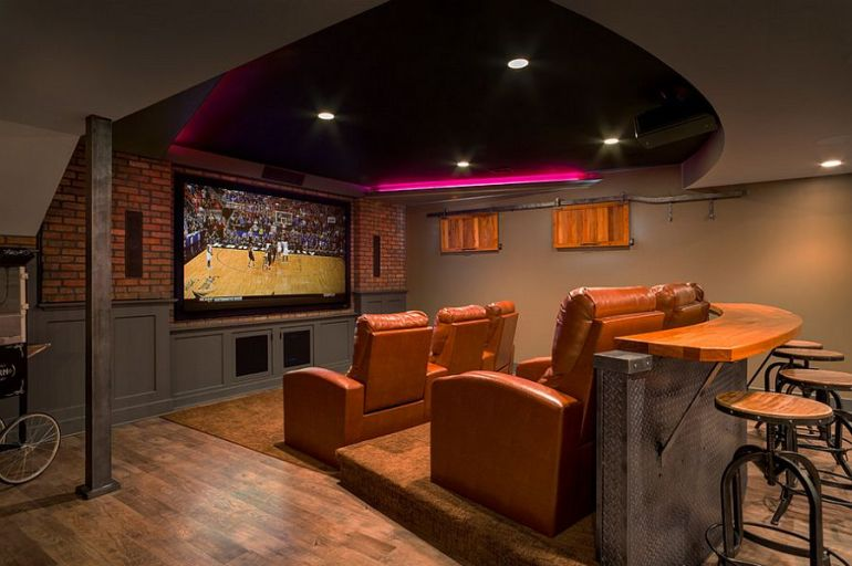 Home Theater with Customized Units