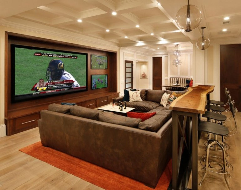48 Awesome Basement Home Theater [Cinema Room Ideas] Gorgeous Basement Home Theater Ideas