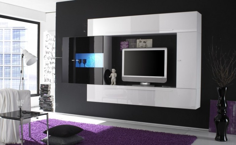 Modern and Futuristic Design of Entertainment Center