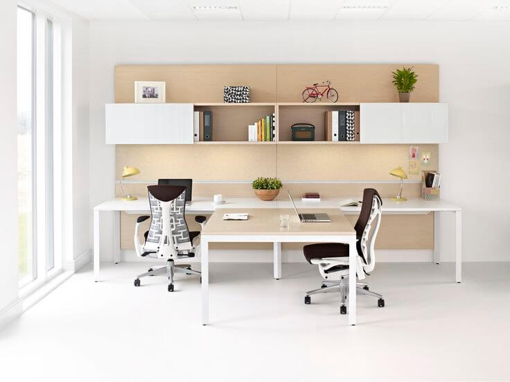 Work Desk Ideas Part - 37: DIY Double Work Desk Ideas