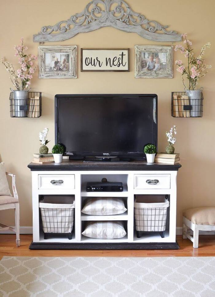 15 best diy entertainment center ideas watch more fun. Black Bedroom Furniture Sets. Home Design Ideas