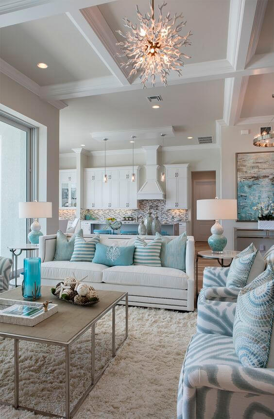 Turquoise Coastline Decorating Design Ideas