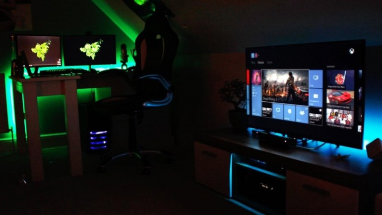 video game room setup ideas