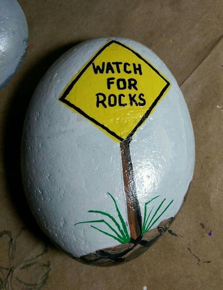 Rock Painting Ideas Shape And Letter