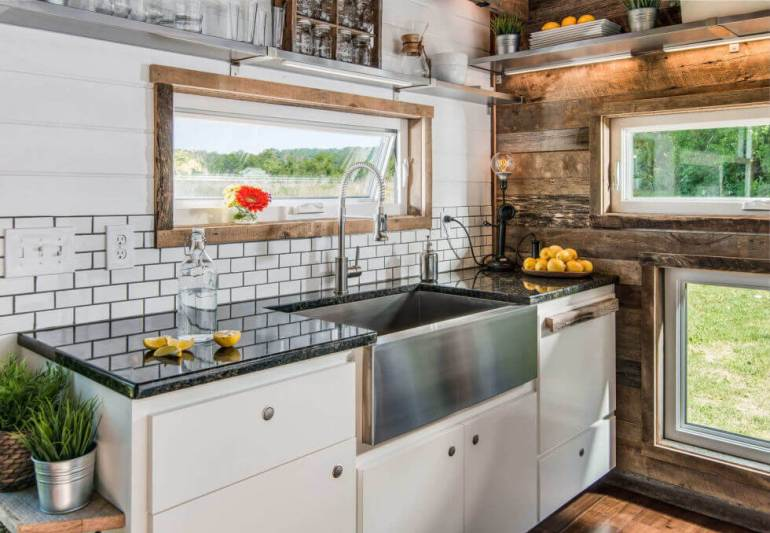 Tiny House Kitchen Backsplash