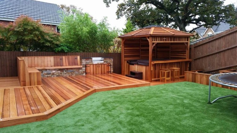 garden decking decorating ideas
