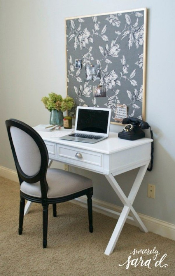 Gray Fabric Cork Board Ideas